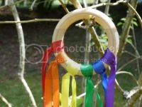 Rainbow Ribbon Hand Kite