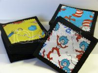 Dr. Seuss Fabric Pattern Memory Match Game