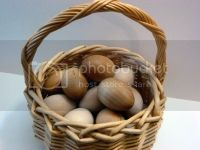 Natural Wooden Eggs Set of 6
