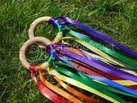 Rainbow Ribbon Hand Kites set of 2